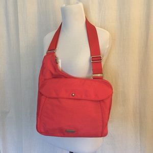 Baggallini Uptown Crossbody Purse Bag CORAL NWT